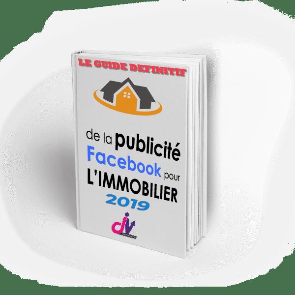 couverture guide publicité Facebook immobilier